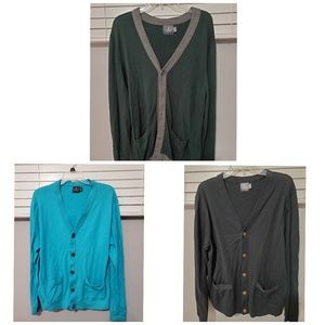 Mens Button Up Cardigan - Qty 3 Good Condition